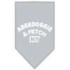 Doggy Stylz Dog-products Dog Bandanas Grey / Small Aberdoggie Ny Screen Print Bandana