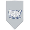 Doggy Stylz Dog-products Dog Bandanas Grey / Small God Bless Usa Screen Print Bandana