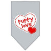 Doggy Stylz Dog-products Dog Bandanas Grey / Small Puppy Love Screen Print Bandana