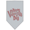 Doggy Stylz Dog-products New Pet Products Grey / Small Happy Valentines Day Rhinestone Bandana