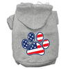 Doggy Stylz Dog-products Pet Apparel Grey / Small Patriotic Paw Screen Print Pet Hoodies