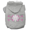 Doggy Stylz Dog-products Pet Apparel Grey / Small Pink Snowflake Swirls Screenprint Pet Hoodies Size
