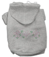 Doggy Stylz Dog-products Dog Hoodies Grey / XXL Tropical Flowers Rhinestone Hoodies