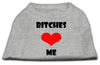 Doggy Stylz Dog-products Dog Shirts Grey / XXL Bitches Love Me Screen Print Shirts Grey