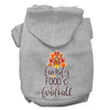 Doggy Stylz Dog-products New Grey / XXXL Family, Food, And Football Screen Print Dog Hoodie