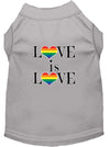 Doggy Stylz Dog-products New Grey / XXXL Love Is Love Screen Print Dog Shirt