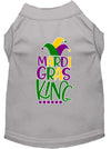 Doggy Stylz Dog-products New Grey / XXXL Mardi Gras King Screen Print Mardi Gras Dog Shirt