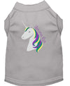 Doggy Stylz Dog-products Unicorns! Grey / XXXL Unicorns Rock Embroidered Dog Shirt Aqua