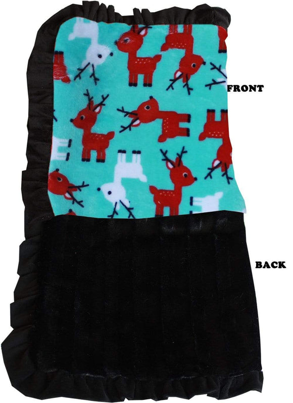 Doggy Stylz Dog-products New Jumbo Size Luxurious Plush Pet Blanket Reindeer Folly Size