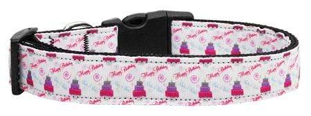 Doggy Stylz Dog-products Dog Collars And Leashes Large Cakes And Wishes Nylon Ribbon Collars