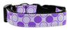 Doggy Stylz Dog-products Dog Collars And Leashes Large Diagonal Dots Nylon Collar Lavender