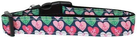 Doggy Stylz Dog-products New Pet Products Large Anchor Candy Hearts Nylon Dog Collar