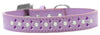 Doggy Stylz Dog-products New Pet Products Lavender / 20 Sprinkles Dog Collar Pearl And Purple Crystals Size