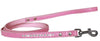 Doggy Stylz Dog-products New Light Pink / 6' Long Clear Jewel Croc Leash 1/2'' Wide X Long