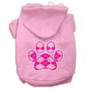 Doggy Stylz Dog-products Pet Apparel Light Pink / Extra large Argyle Paw Pink Screen Print Pet Hoodies Size