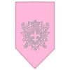 Doggy Stylz Dog-products Dog Bandanas Light Pink / Large Fleur De Lis Shield Rhinestone Bandana
