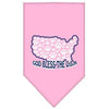 Doggy Stylz Dog-products Dog Bandanas Light Pink / Large God Bless Usa Screen Print Bandana