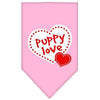 Doggy Stylz Dog-products Dog Bandanas Light Pink / Large Puppy Love Screen Print Bandana