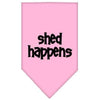 Doggy Stylz Dog-products Dog Bandanas Light Pink / Large Shed Happens Screen Print Bandana