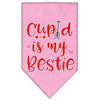 Doggy Stylz Dog-products New Light Pink / Large Cupid Is My Bestie Screen Print Bandana