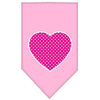 Doggy Stylz Dog-products New Pet Products Light Pink / Large Pink Swiss Dot Heart Screen Print Bandana