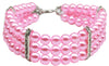 Doggy Stylz Dog-products New Pet Products Light Pink / Large Three Row Pearl Necklace