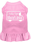 Doggy Stylz Dog-products Apparel Light Pink / MEDIUM I Ride The Short Bus Screen Print Dress Light Pink