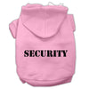 Doggy Stylz Dog-products Pet Apparel Light Pink Size W/ Black Size Text / Large Security Screen Print Pet Hoodies Size Size
