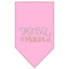 Doggy Stylz Dog-products Dog Bandanas Light Pink / Small Trouble Maker Rhinestone Bandana