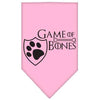 Doggy Stylz Dog-products General Light Pink / Small Game Of Bones Screen Print Bandana