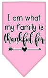 Doggy Stylz Dog-products New Light Pink / Small I Am What My Family Is Thankful For Screen Print Bandana