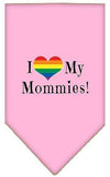 Doggy Stylz Dog-products New Light Pink / Small I Heart My Mommies Screen Print Bandana