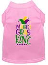 Doggy Stylz Dog-products New Light Pink / Small Mardi Gras King Screen Print Mardi Gras Dog Shirt