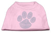 Doggy Stylz Dog-products Dog Shirts Light Pink / XXL Blue Paw Rhinestud Shirt Light Pink
