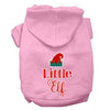 Doggy Stylz Dog-products New Light Pink / XXL Little Elf Screen Print Dog Hoodie