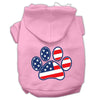 Doggy Stylz Dog-products Pet Apparel Light Pink / XXL Patriotic Paw Screen Print Pet Hoodies