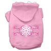 Doggy Stylz Dog-products Pet Apparel Light Pink / XXL Pink Snowflake Swirls Screenprint Pet Hoodies Size