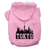 Doggy Stylz Dog-products Pet Apparel Light Pink / XXL Tokyo Skyline Screen Print Pet Hoodies Size