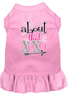 Doggy Stylz Dog-products New Light Pink / XXXL All About The Xoxo Screen Print Dog Dress