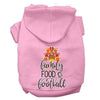 Doggy Stylz Dog-products New Light Pink / XXXL Family, Food, And Football Screen Print Dog Hoodie