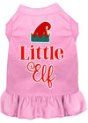 Doggy Stylz Dog-products New Light Pink / XXXL Little Elf Screen Print Dog Dress