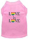 Doggy Stylz Dog-products New Light Pink / XXXL Love Is Love Screen Print Dog Shirt