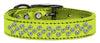 Doggy Stylz Dog-products New! Lime Green / 18 Sprinkles Ab Crystal Metallic Leather
