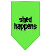 Doggy Stylz Dog-products Dog Bandanas Lime Green / Large Shed Happens Screen Print Bandana