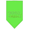 Doggy Stylz Dog-products Dog Bandanas Lime Green / Large Trouble Maker Rhinestone Bandana