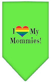 Doggy Stylz Dog-products New Lime Green / Large I Heart My Mommies Screen Print Bandana