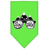 Doggy Stylz Dog-products New! Lime Green / Large Stay Wild Screen Print Bandana