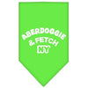 Doggy Stylz Dog-products Dog Bandanas Lime Green / Small Aberdoggie Ny Screen Print Bandana
