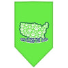 Doggy Stylz Dog-products Dog Bandanas Lime Green / Small God Bless Usa Screen Print Bandana