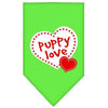 Doggy Stylz Dog-products Dog Bandanas Lime Green / Small Puppy Love Screen Print Bandana
